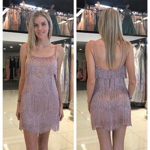 Sherri Hill beaded fringe dress